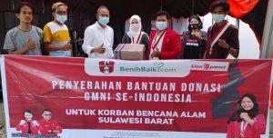 DPP GMNI Salurkan Bantuan Gempa Sulbar, Ke Pemda Mamuju Melalui Wakil Bupati Terpilih Ado Mas'ud